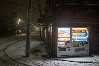 Snow on Tokyo