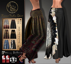 ***ArisArisB&W~Alus19~Forest Boho Skirt. Vendor pic (ArisArisB&W - Ariadna Garrigus & Ayrton Radikal) Tags: mesh meshes fitted skirt falda lace hud boho modern style white black red dark promo promotion fashion maitreya slink fitmesh sexy shine belleza embroidery bohemian long secondlife