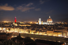 Firenze (Italy) (Andrea Moscato) Tags: andreamoscato italia toscana tuscany view vivid vista overlook paesaggio panorama cielo clouds city città cityscape sky skyline town tower torre church chiesa cathedral cattedrale duomo building edificio architecture architettura nuvole notte notturno dark danmark light luci shadow ombre fiume river arno history historic ancient