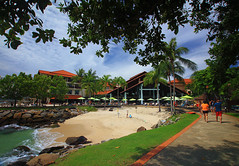 Private Beach in Malaysia (` Toshio ') Tags: toshio malaysia kotakinabalu resort beach asia sand path people asian malayasian canon 7d palmtrees waves ocean borneo sabah