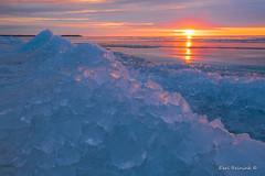 Lake Erie sunrise (Earl Reinink) Tags: photography photograph earl reinink earlreinink ontario sunrise sunset winter ice lake water cold icecube iaddiuadza lakeerie