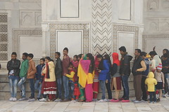 Taj Mahal queue (notFlunky) Tags: india taj mahal agra people queue christmas new year sub continent