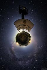 Planet Serbia (Boris Mrdja) Tags: night milkyway mlecniput little planet serbia srbija sky skyscape border usje golubac djerdap djerdapskaklisura rumunija romania astro astronomy tower 360 vr 360vr panorama projection