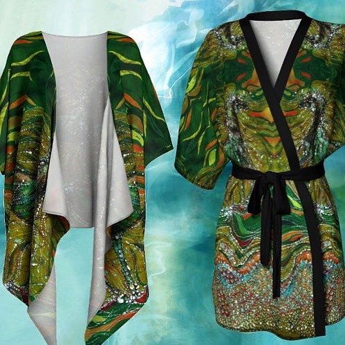Excited to share the latest addition to my #etsy shop: Kimono Cardigan - Green Horse Batik http://etsy.me/2EkOdcv #batik #horsesrt #batik clothing #amityfarmbatik