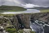 Bøsdalafossur - Miðvagur (Lightblue Sky) Tags: mountain lake waterfall cliffs nature outdoor hiking faroe islands bøsdalafossur north atlantic ocean wild outstanding beauty