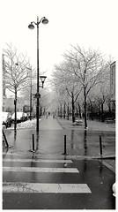 Hiver, Paris XVIIIème (Chaufglass) Tags: hiver neige paris france froid nb