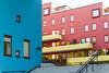 Sørenga (Mona_Oslo) Tags: architecture blue red yellow pink colorful stairs sørenge urbanarea oslo oslofjorden monajohansson color