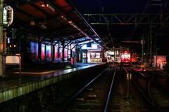 Night Station (mon_masa) Tags: nightphoto night station railway rairoad train nightview
