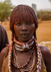Hamar Woman (Rod Waddington) Tags: africa african afrique afrika äthiopien ethiopia ethiopian ethnic etiopia ethnicity ethiopie etiopian omovalley omo outdoor omoriver turmi hamer hamar tribe traditional tribal woman married portrait people culture cultural