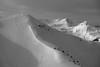 Over all summits is calmness (No_Mosquito) Tags: austria alps zwölferkogel hinterglemm monochrome canon powershot g7xmarkii salzburg cold outdoor summits calm winter