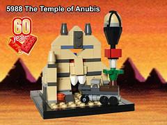 Micro Temple of Anubis (Oky - Space Ranger) Tags: lego brick 60 year anniversary micro scale build adventurers johnny thunder temple anubis truck balloon egypt desert pharaoh hotep mummie