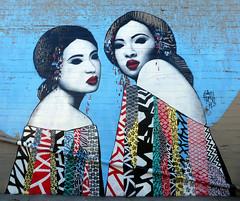 Two Oriental Ladies (Slideshow Bruce) Tags: mural ladies oriental eugene oregon