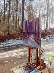 last traces of snow on hiking path between niederanven and ernster #usk #urbansketchers  #uskluxembourg  #urbansketchersluxembourg #oilpainting (leenvanbogaert) Tags: usk urbansketchers uskluxembourg urbansketchersluxembourg oilpainting