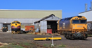 Y157 B75 and G522 all stabled in SSR workshops