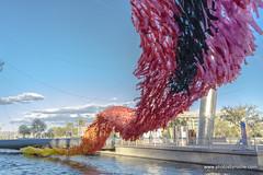 Reflection Rising (doveoggi) Tags: 8487 artinstallation poetickinetics arizona scottsdale city canal scottsdalewaterfront
