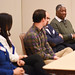 A group of NC State alumni participated in a panel on the importance of creating community.