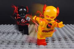 Chased by Black Flash (-Metarix-) Tags: lego super hero minifig reverse flash black eobard thawn death barry allen speedforce speed negative legends tomorrow cw tv comics comic dc