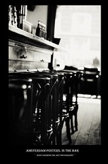 Amsterdam Posters. In The Bar by Jenny Rainbow (Jenny Rainbow (jenny-rainbow.pixels.com)) Tags: jennyrainbowfineartphotography amsterdam thenetherlands holland blackandwhitephotography bar barinterior barcounter chairs tallbarchairs beer drinks seats barseats window selectivefocus fineartphotography amsterdamstreets streetphotography amsterdambuildings citylife amsterdamstyleoflife city visitamsterdam black dutchstyleoflife rhythm stylishart artforbars travel travelphotography white street lifestyle dutchstyle