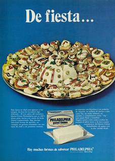 1976 Food Ad, Philadelphia Queso Crema / Cream Cheese