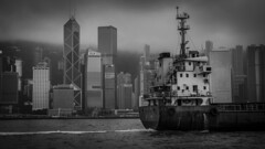 Grey Victoria Harbour (HutchSLR) Tags: hutchslr hongkong victoriaharbour blackandwhite bankofchina canon china chinese city cityscape canon5dmarkiii skyscraper skyline asia architecture