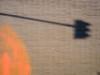 Graffito | P2221061 (mkreibohm) Tags: light shadow shadows urban street minimal minimalism minimalist color colour tiles texture orange blob circle spraypaint trafficlight black house micro43 microfourthirds olympus olympusem1omd europe frankfurt germany city lines