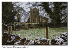 St Etheldreda, West Halton, North Lincolnshire (Paul Simpson Photography) Tags: stetheldreda westhalton northlincolnshire church religion snow winter weather paulsimpsonphotography stonewall religious fence tree sonya77 wintry snowy january 2018 imagesof imageof photosof photoof brickwall northlincs ruralchurch villagechurch england uk britaininpictures