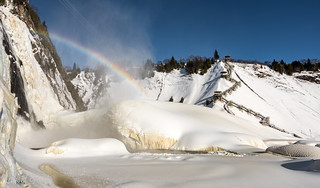 Rainbow and the Sugar Loaf at Montmorency falls