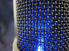 at2020 blue light (Paul Iwancio) Tags: microphone voice recording audio recordingstudio recordinggear