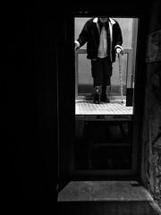 The art of life (rvjak) Tags: noir blanc iphone black white bw paris france unijambiste old vieux elevator ascenseur onelegged handicapé