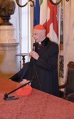 Cardinale16 (Genova città digitale) Tags: genova cardinale angelo bagnasco vescovo arcivescovo comune sindaco visita inizio anno marco bucci gennaio 2018 palazzo tursi