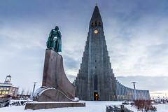 Hallgrímskirkja, Reykjavik (GWMcLaughlin) Tags: canon600d iceland eriksson church 1018mm leifur cityurban snow hallgrímskirkja canon efs reykjavik 600d
