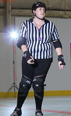 IMG_8166 crop 1 (KORfan) Tags: rollerderby barbedwirebetties cabinfeverscrimmage referees officials