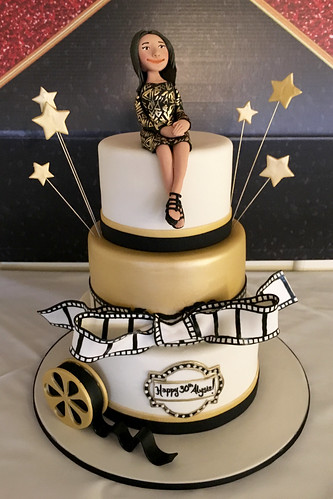 Movies Cinema Figurine Birthday Cake