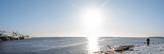 Cold Sunny Day (makkus1996) Tags: cold sun day midday shine sunshine windy wind panorama winter snow water sea horizon canon photography