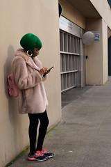 Emerald City Girl (mattwaller@ymail.com) Tags: blackandwhitephotography blackandwhite bnw blackwhite bw monochrome urban city seattle streetphotography street streetphotographers streetphoto streetlife people women greeenhair