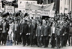 Upper Clyde Shipbuilders march through Glasgow (Scottish Maritime Museum - SMM) Tags: ucs fairfields govan yard ship workers strike work union banner trade