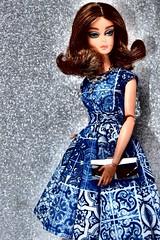 A - Z Challenge: C- Cocktail dress & clutch (imida73) Tags: barbie blue chiffon ball gown mattel challenge