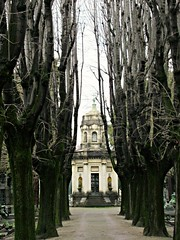 Path - Milan graveyard (Otherwise_m) Tags: graveyard cementerio cimetière tombe tumba grave trees mort dead architecture art canon canonphotography photography photoshoot italie italia italy milan milano monumental peace path travelling travel voyage voyages