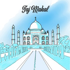 Taj Mahal Landmark Sketch (Hebstreits) Tags: agra architecture art asia asian background beautiful building castle concept country culture decoration design dome drawing famous flag graphic grunge hand handdrawn hinduism holiday icon illustration india indian isolated landmark love mahal mausoleum monument museum old palace religion set sketch symbol tajmahal temple tourism tower traditional travel vector vintage world