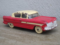 Vintage 1950's Dinky Toys Red & Cream Hudson Hornet Diecast Toy (beetle2001cybergreen) Tags: vintage dinky toys red cream hudson hornet diecast toy 1950s
