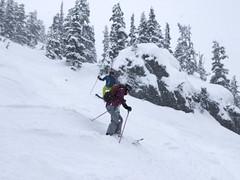 Attack the black (Ruth and Dave) Tags: kirsten andrew skier whistler whistlerblackcomb blackcombmountain staircase blackrun skirun piste moguls skiresort skiing steep bumpy boulder weather weatherphotography