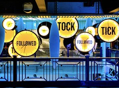 Tick Tock - Guinness Storehouse (LeRouxster) Tags: iphonex iphoneonly iphone iphoneography shotoniphone mobilephotography travelphotography light storehouse guinness marketing blue yellow dublin ireland clock ticktock time travel
