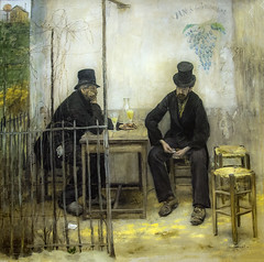 'The Absinthe Drinkers' by Jean-Francois Raffaelli (Greatest Paka Photography) Tags: absinthe art artist jeanfrancoisraffaelli painting french impressionism newpainting banlieue legionofhonor museum sanfrancisco