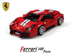 Ferrari 488 Pista Berlinetta (Geneve 2018) (lego911) Tags: ferrari 488 pista berlinetta coupe 2018 geneva italy italian v8 turbo turbocharged 2010s auto car moc model miniland lego lego911 ldd render cad povray foitsop