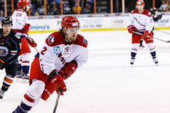 "Kansas City Mavericks vs. Allen Americans, February 24, 2018, Silverstein Eye Centers Arena, Independence, Missouri.  Photo: © John Howe / Howe Creative Photography, all rights reserved 2018 • <a style=""font-size:0.8em;"" href=""http://www.flickr.com/photos/134016632@N02/40458432432/"" target=""_blank"">View on Flickr</a>"