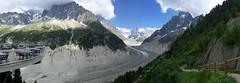 Panorama Mer de Glace. Mont Blanc Massif. Chamonix. (elsa11) Tags: panorama chamonix merdeglace montenvers montblancmassif hautesavoie auvergnerhonealpes montagnes mountains alpes alpen alps france frankrijk glacier gletscher gletsjer