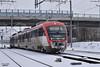31 005/31 006 with passenger train 10244 Dimitrovgrad to Plovdviv leave station Dimitrovgrad - 27.02.2018 г. (DMKarev) Tags: bdz бдж dimitrovgrad plovdiv 31005 31006 emu station