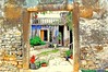 Color Entry (marco.falaschiii) Tags: color entry blue wall entrance croatia croazia colori ingresso painting borgo antico nikon d40 reflex architettura muro entrata vecchio cortile balcone pianta balcony finestra windows fazana