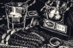 Jagermeister & Ice (_John Hikins) Tags: jager jagermeister glass glasses ice drink shot shots ring product black blackwhite blackandwhite white monochrome nikon nikkor 50mm 50mm18 18 18mm f18 d500 tripod