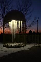Winter at Ontario Place (wyliepoon) Tags: downtown toronto ontario place park amusement winter night sunset light lighting exhibition festival art installation lake sun set